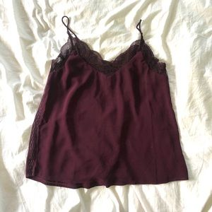Burgundy Lace Camisole (never worn)